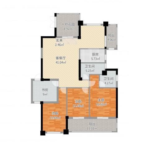郦景阳光二期4室1厅2卫1厨183.00㎡户型图