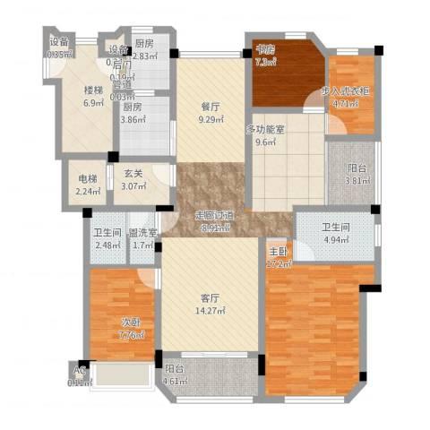 保利紫晶山4室2厅8卫2厨169.00㎡户型图