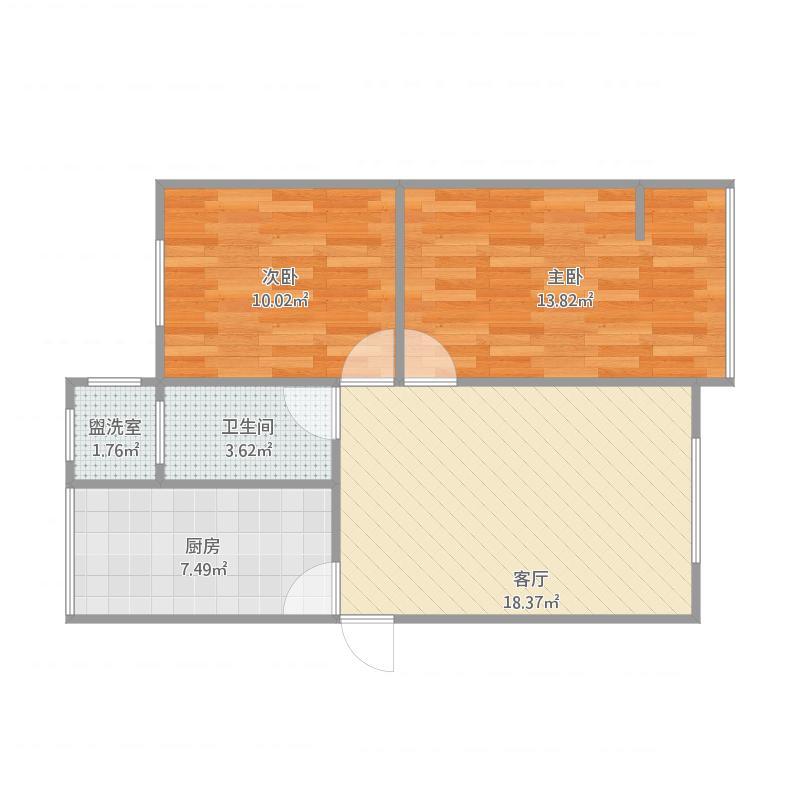 德阳_龙井新村_两室一厅一厨一卫改造方案1