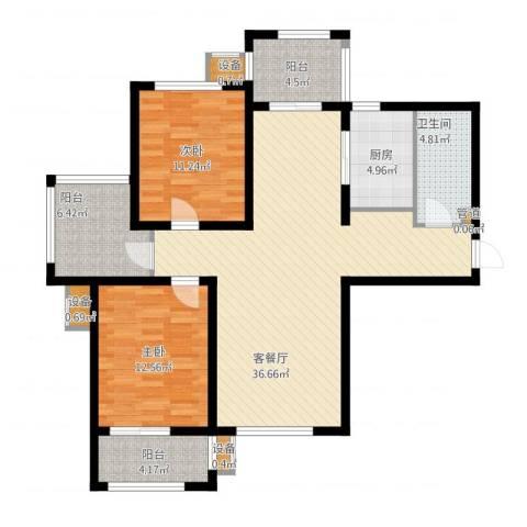 金屋秦皇半岛2室1厅3卫3厨126.00㎡户型图