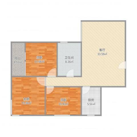 富和新城—4栋1单元6033室1厅1卫1厨116.00㎡户型图
