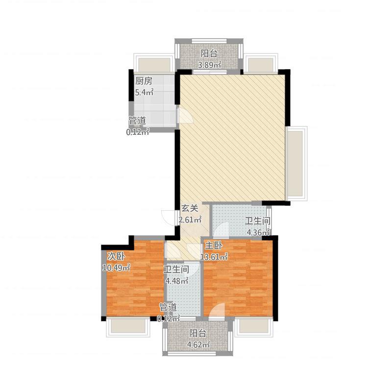 紫金西苑A-1户型面积120平