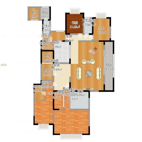 西派国际4室1厅4卫1厨345.00㎡户型图