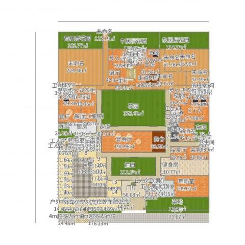 现代新式四合院5室1厅9卫1厨4904.00㎡户型图