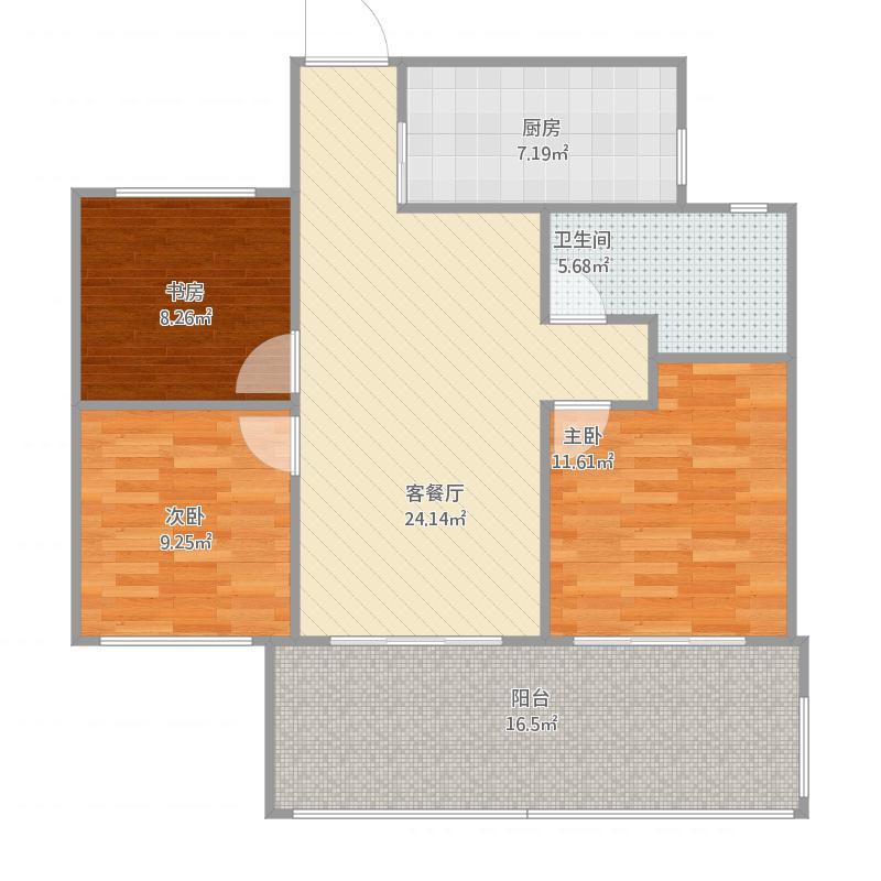 2室2厅1卫1厨89方