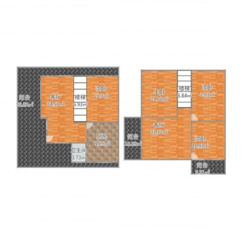 名嘉花园4室2厅1卫1厨361.00㎡户型图
