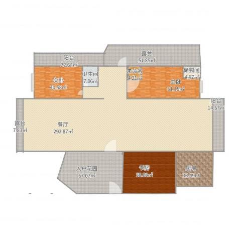 文华花园3室1厅1卫1厨848.00㎡户型图