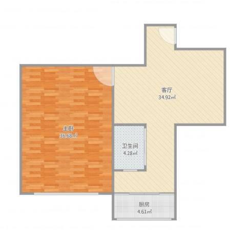 三八广场1室1厅1卫1厨107.00㎡户型图