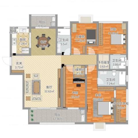 华府豪庭二期4室1厅4卫1厨236.00㎡户型图