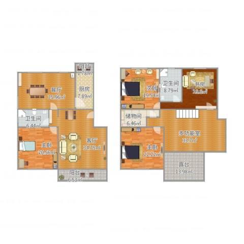 华高苑复式4室2厅2卫1厨303.00㎡户型图