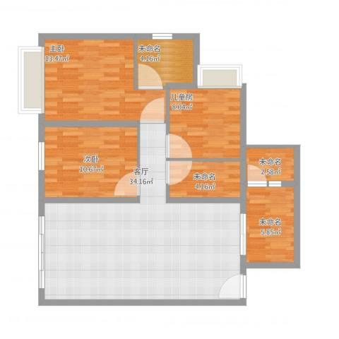 怡翠宏璟3室1厅3卫1厨117.00㎡户型图