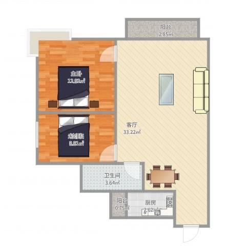 圣地阳光1室1厅1卫1厨87.00㎡户型图