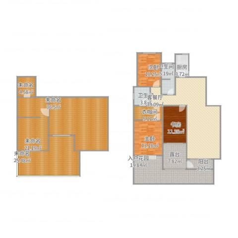卓达明郡3室1厅8卫1厨281.00㎡户型图
