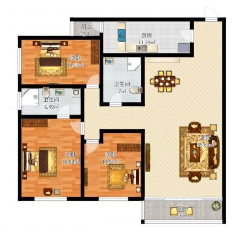 天通苑东一区3室1厅2卫1厨190.00㎡户型图