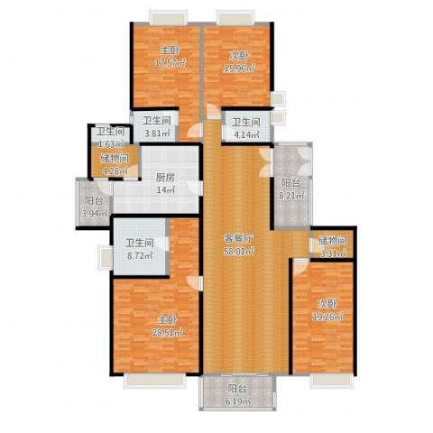 南城都汇二期4室1厅4卫1厨267.00㎡户型图