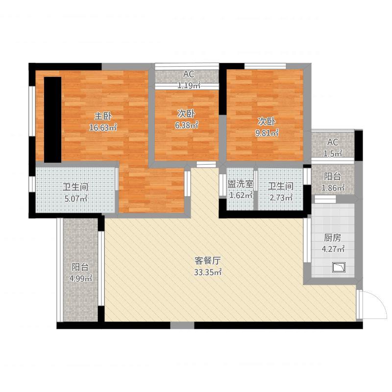 长沙_金科世纪城108平原户型_2015-12-04-1127