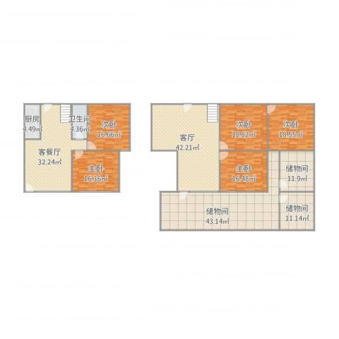 K2・海棠湾5室2厅1卫1厨312.00㎡户型图