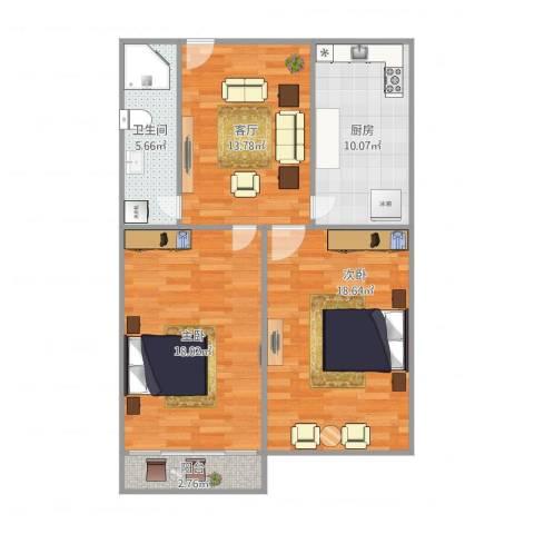 莲溪一村14号7022室1厅1卫1厨92.00㎡户型图
