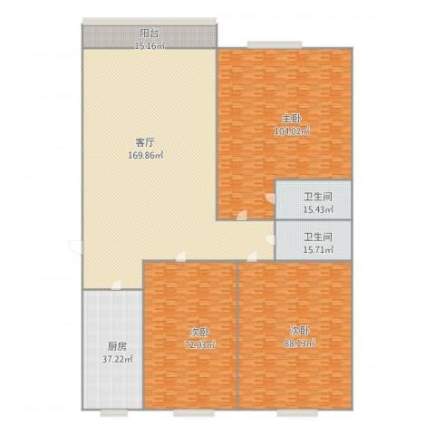 阳光舜城3室1厅2卫1厨533.36㎡户型图