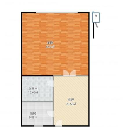 风采里1室1厅1卫1厨132.00㎡户型图