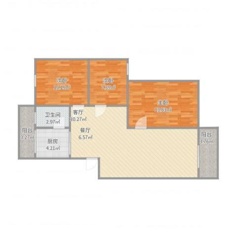 恒基花园一期4-6013室1厅1卫1厨102.00㎡户型图