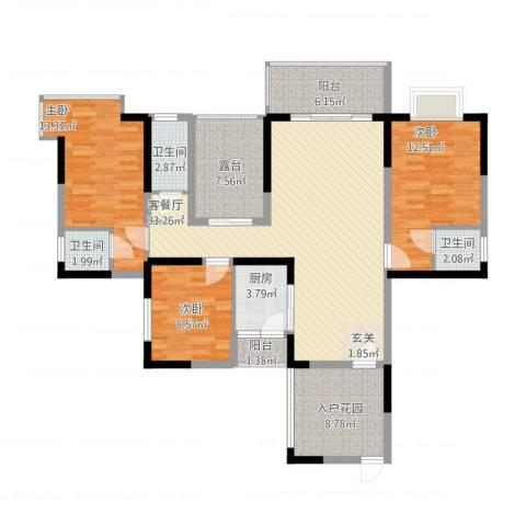 和瑞深圳青年3室1厅3卫1厨148.00㎡户型图