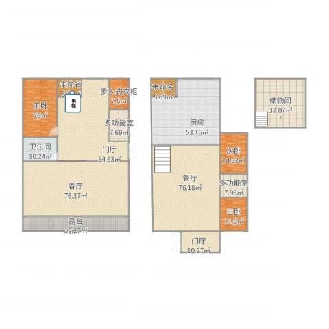 中华名城3室2厅1卫1厨547.00㎡户型图