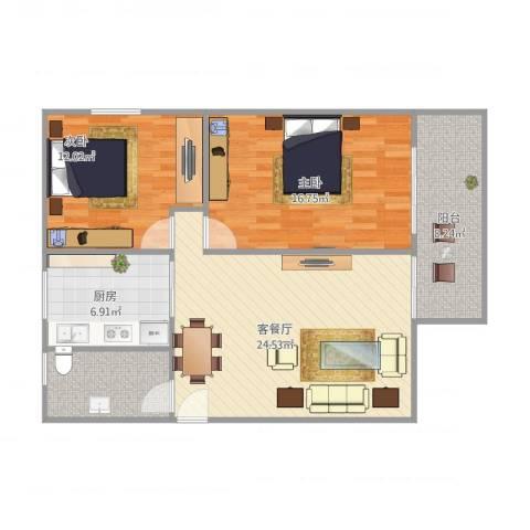 天虹花园262室1厅1卫1厨98.00㎡户型图