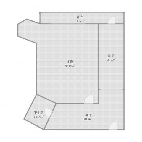 元兴新里1室1厅1卫1厨251.00㎡户型图