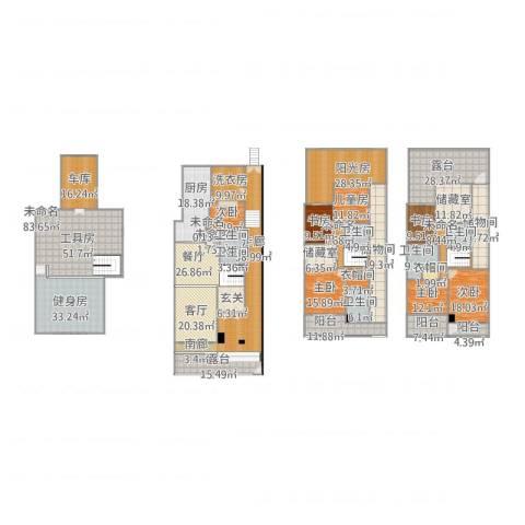 太湖纯水岸别墅7室2厅9卫1厨670.00㎡户型图