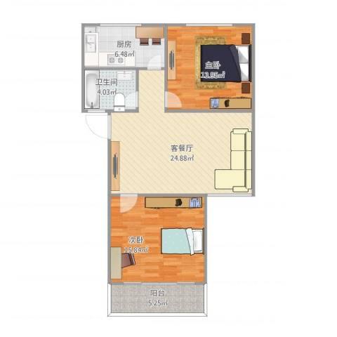 古楼南里2室1厅1卫1厨94.00㎡户型图