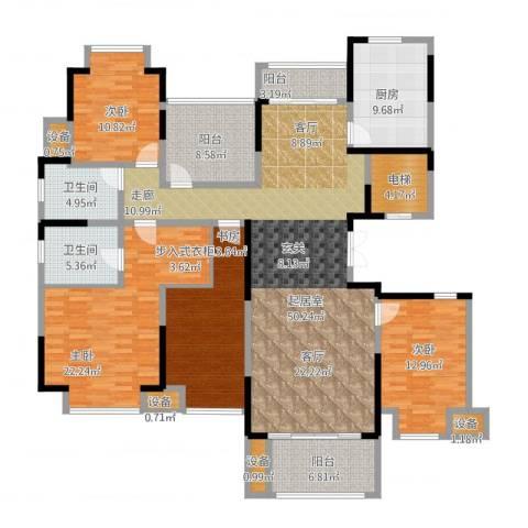 中旅狮山名门4室1厅5卫2厨221.00㎡户型图