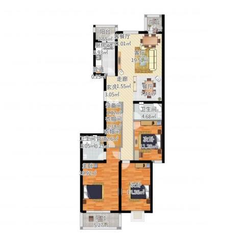 汾河景观3603室1厅2卫1厨170.00㎡户型图