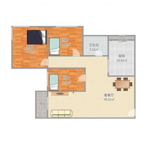 怡翠花园百合苑1座8023室1厅1卫1厨139.00㎡户型图