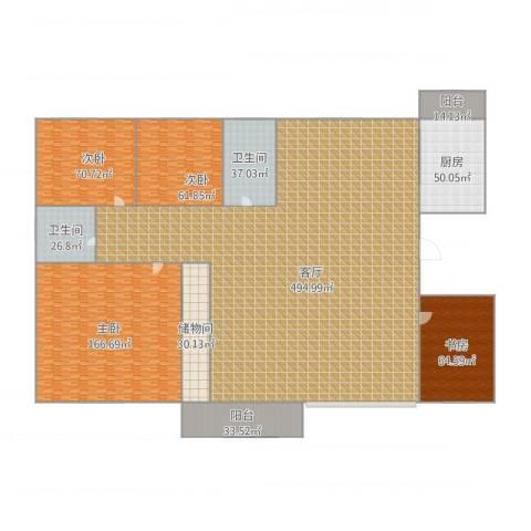 幸福E家四期4室1厅2卫1厨1075.20㎡户型图