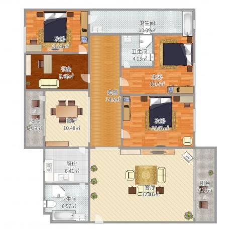 长信花园嘉丽阁4024室2厅3卫1厨195.00㎡户型图