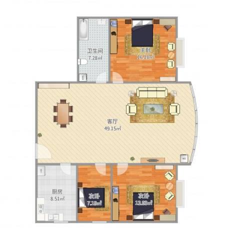 宏丰大厦18063室1厅1卫1厨135.00㎡户型图