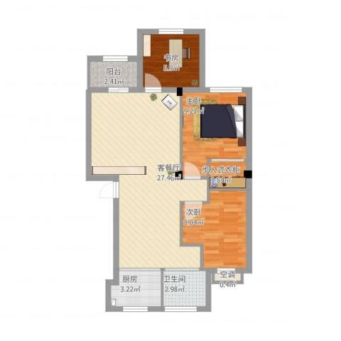 奥林803室1厅1卫1厨88.00㎡户型图