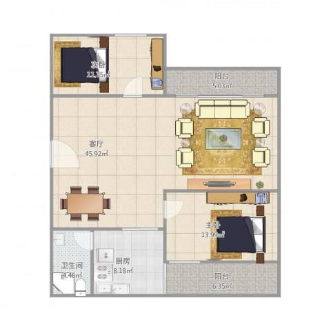 翠逸庭苑13座6082室1厅1卫1厨128.00㎡户型图