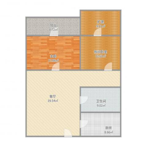 东窑洼1室1厅1卫1厨140.00㎡户型图
