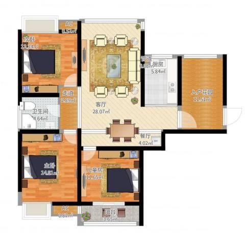 栖里凤台山庄3室3厅3卫2厨146.00㎡户型图