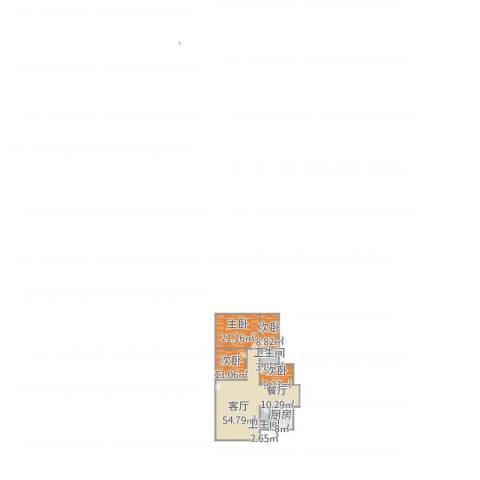 东方新地4室1厅2卫1厨161.00㎡户型图