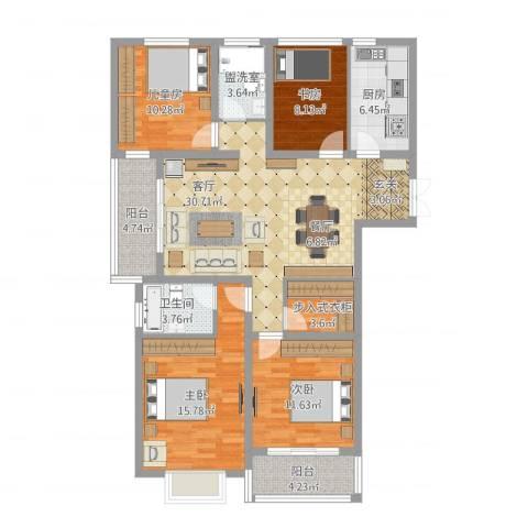 瑞景国际96#147平方米4室2厅1卫1厨148.00㎡户型图