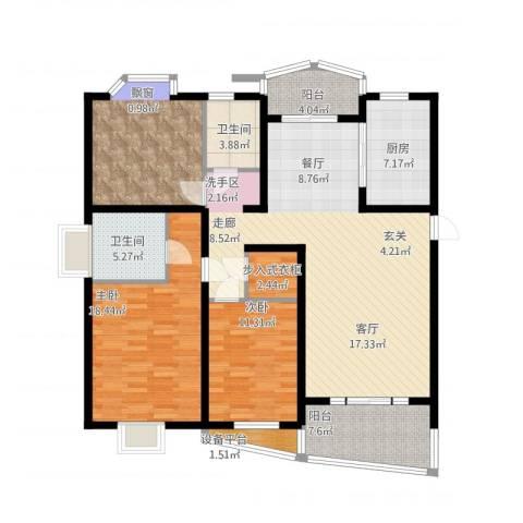 欣晟家园3室1厅2卫1厨166.00㎡户型图