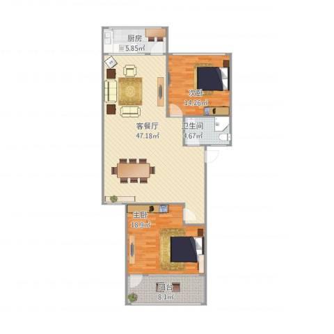鑫达小区2212室1厅1卫1厨131.00㎡户型图