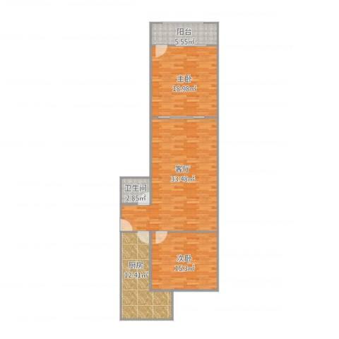 七里堡小区2室1厅1卫1厨118.00㎡户型图