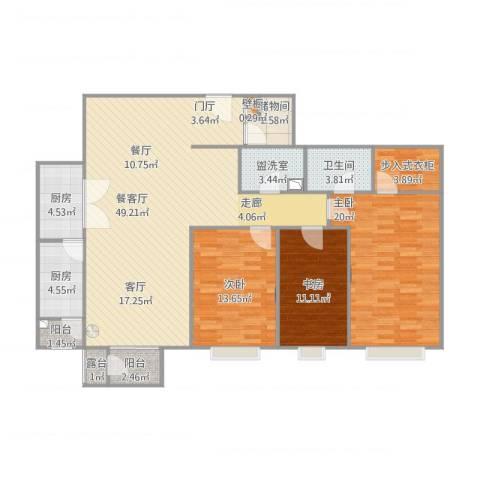 富力城C区23室1厅1卫2厨165.00㎡户型图