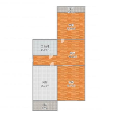 翠萍园2室1厅1卫1厨240.00㎡户型图