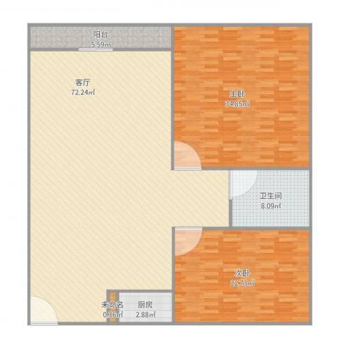 兴业新村2室1厅1卫1厨192.00㎡户型图