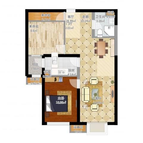 东洲家园1室1厅5卫3厨70.48㎡户型图